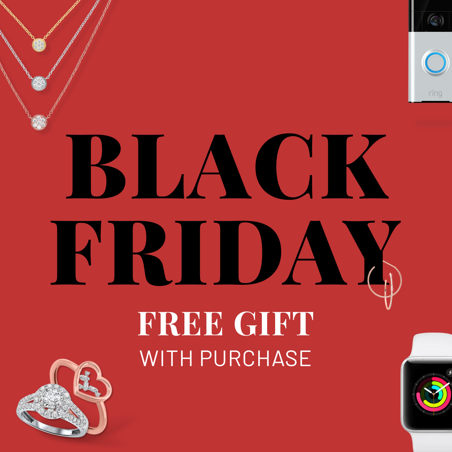 Our amazing black friday deal: free top tech gifts with purchase!