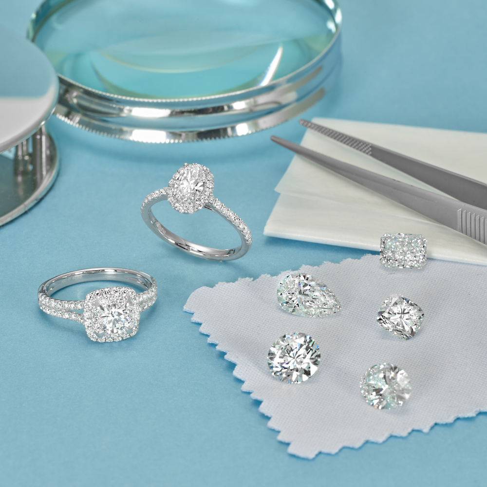 How your engagement ring's metal affects your diamond's color