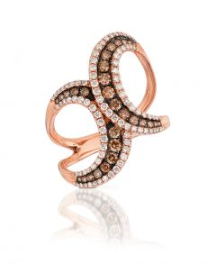 Le Vian Red Carpet® 14k Strawberry Gold® Chocolate Diamond® Fashion Ring