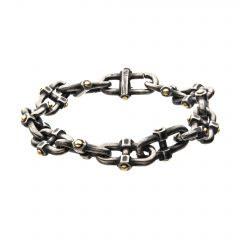 Stainless Steel Antique Distressed Mariner Chain Bracelet