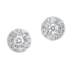14K Diamond Earrings 1/2 ctw ER10259-4WC