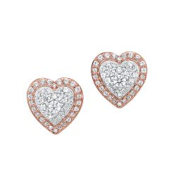 14k Rose Gold Earring ER10301-4PDSC