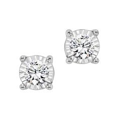 14K Diamond Studs 1/2 ct