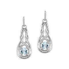 Silver Aquamarine Earrings (Available In all BirthStones)
