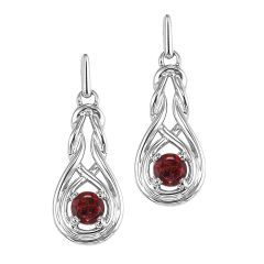 Silver Garnet Earrings (Available In all BirthStones)