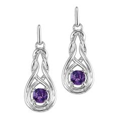 Silver Amethyst Earrings (Available In all BirthStones)