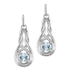 Silver White Topaz Earrings (Available In all BirthStones)