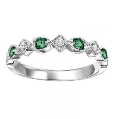 10KW Emerald & Diamond Mixable Rings FR1028