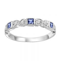 10K Sapphire & Diamond Mixable Ring FR1029