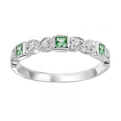 10KW Emerald & Diamond Mixable Ring