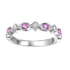 10K Pink Sapphire & Diamond Mixable Ring FR1037