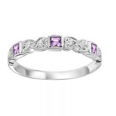 10K Pink Sapphire & Diamond Mixable Ring FR1039