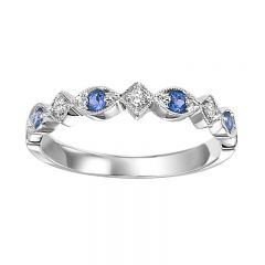 10K Sapphire & Diamond Mixable Ring FR1041