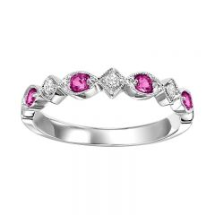10K Ruby & Diamond Mixable Ring FR1043