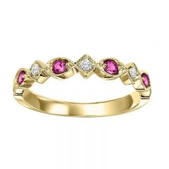 14K Ruby & Diamond Mixable Ring FR1075