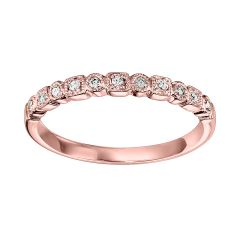 14k Rose Gold Wedding Band FR1084-4PD