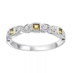 10K Citrine & Diamond Mixable Ring FR1210