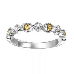 10K Citrine & Diamond Mixable Ring FR1216