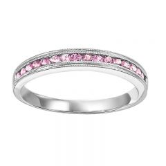 10K Pink Tourmaline Mixable Ring