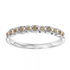 10KW Treated Brown Diamond Mixable Ring