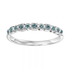 10K Treated Blue Diamond Mixable Ring