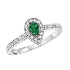 14K Emerald & Diamond Ring FR4015EWB