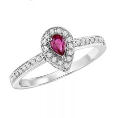 14K Ruby & Diamond Ring FR4015RWB