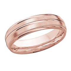 MALO 10K Pink Gold Wedding Band FT-016-6P-01