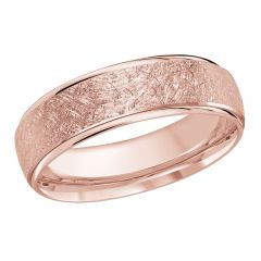 MALO 10K Pink Gold Wedding Band FT-081-6P-04