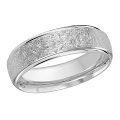 MALO 10K White Gold Wedding Band FT-081-6W-04
