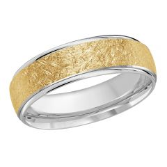 MALO 10K White / Yellow Gold Wedding Band FT-081-6WY-04
