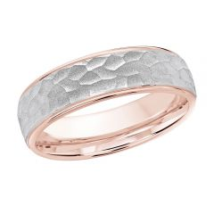 MALO 10K Pink/White Gold Wedding Band FT-1070-6PW-02