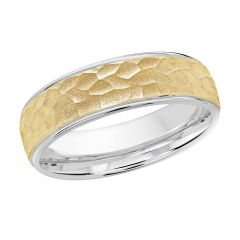 MALO 10K White / Yellow Gold Wedding Band FT-1070-6WY-02