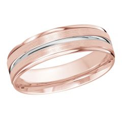 MALO 10K Pink/White Gold Wedding Band FT-1109-6PW-01