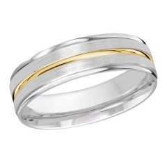 MALO 10K White / Yellow Gold Wedding Band FT-1109-6WY-01