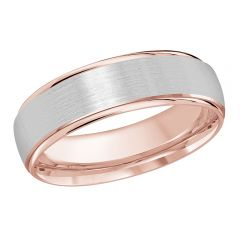 MALO 10K Pink/White Gold Wedding Band FT-1166-6PW-01