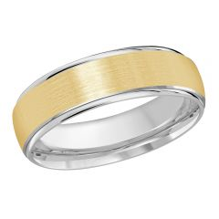 MALO 10K White / Yellow Gold Wedding Band FT-1166-6WY-01