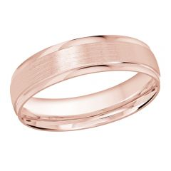 MALO 10K Pink Gold Wedding Band FT-1226-5P-01