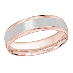 MALO 10K Pink/White Gold Wedding Band FT-1226-5PW-01