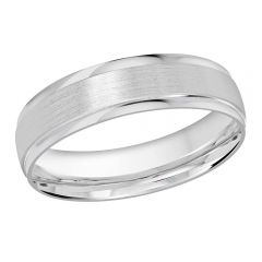 MALO 10K White Gold Wedding Band FT-1226-5W-01