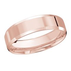 MALO 10K Pink Gold Wedding Band FT-301-6P-03