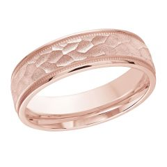MALO 10K Pink Gold Wedding Band FT-303-6P-02