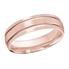 MALO 10K Pink Gold Wedding Band FT-393-6P-01