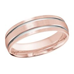 MALO 10K Pink/White Gold Wedding Band FT-393-6PW-01