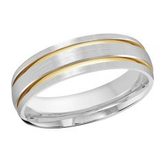 MALO 10K White / Yellow Gold Wedding Band FT-393-6WY-01