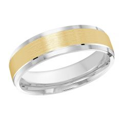 MALO 10K White / Yellow Gold Wedding Band FT-410-6WY-01