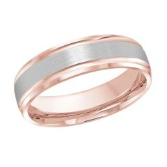 MALO 10K Pink/White Gold Wedding Band FT-411-6PW-01