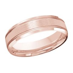MALO 10K Pink Gold Wedding Band FT-520-6P-01