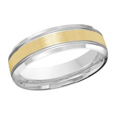MALO 10K White / Yellow Gold Wedding Band FT-520-6WY-01