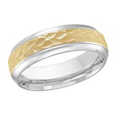 MALO 10K White / Yellow Gold Wedding Band FT-810-7WY-02